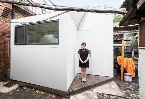 Genç kadın 35 bin TL'ye kendi evini yaptı!