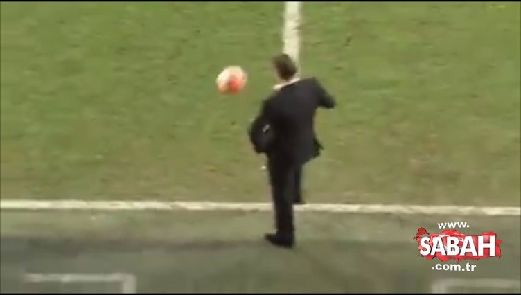 Teknik adamın önünde top patlarsa...