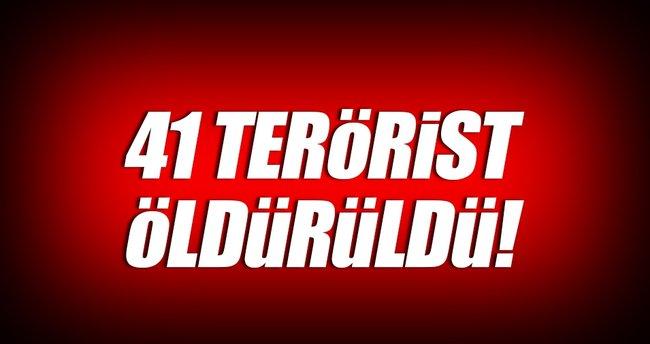 İçişleri Bakanlığı: 41 terörist öldürüldü