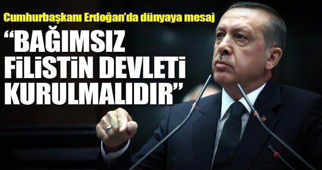 Cumhurbaşkanı Erdoğan'dan Filistin paylaşımı