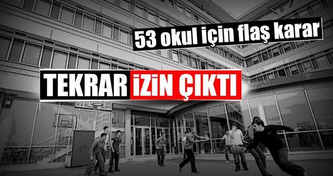 Kapatılan 53 özel okul için yeniden izin çıktı