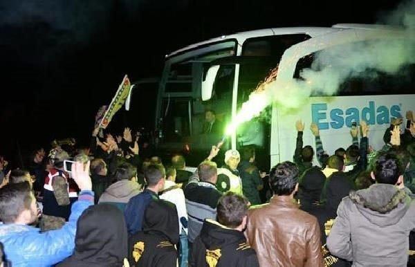 Fenerbahçe böyle karşılandı