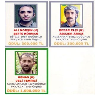 Gri ve yeşil listeden 5 terörist Phantom'la vuruldu