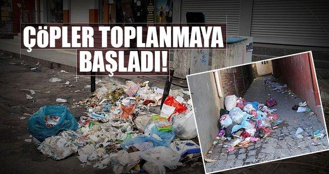 Çöpler toplanmaya başladı!
