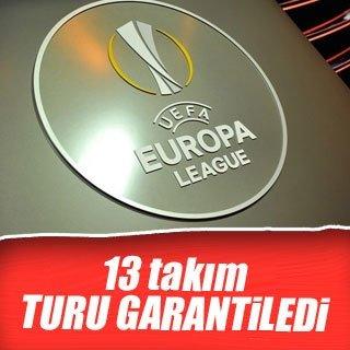 Avrupa Ligi'nde 13 takım gruptan çıkmayı garantiledi