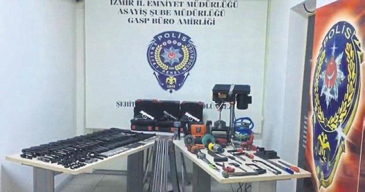 Kentin göbeğinde kaçak silah imalatı