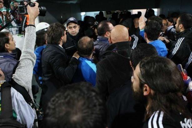 Bursa'da maç bitti ortalık karıştı