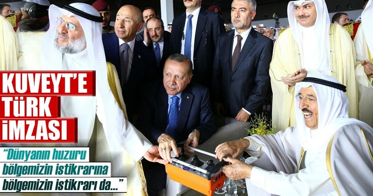 Erdoğan Kuveyt Uluslararası Havalimanı'nın temel atma töreninde konuştu
