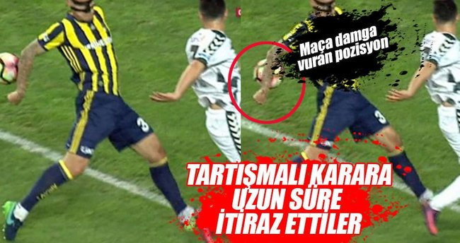 Konyaspor – Fenerbahçe maçında tartışmalı karar