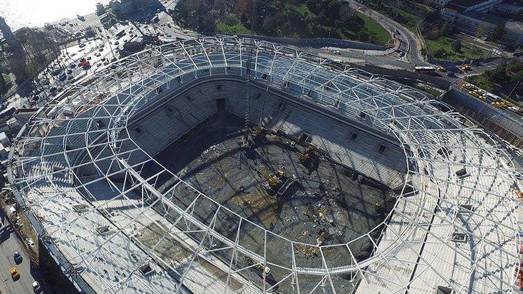 Vodafone Arena'da çimlendirmeye geçiliyor