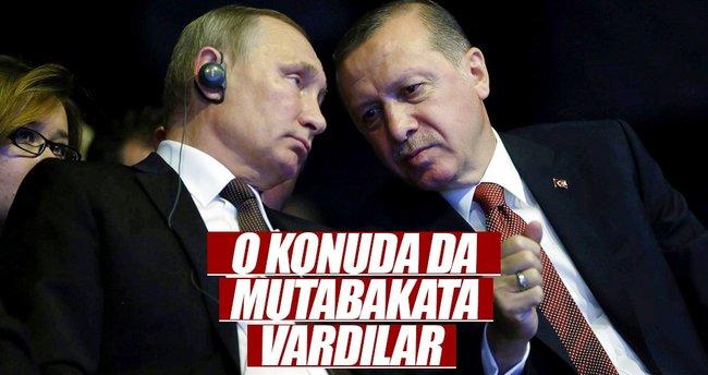 Erdoğan ve Putin ile o konuda mutabakata vardılar