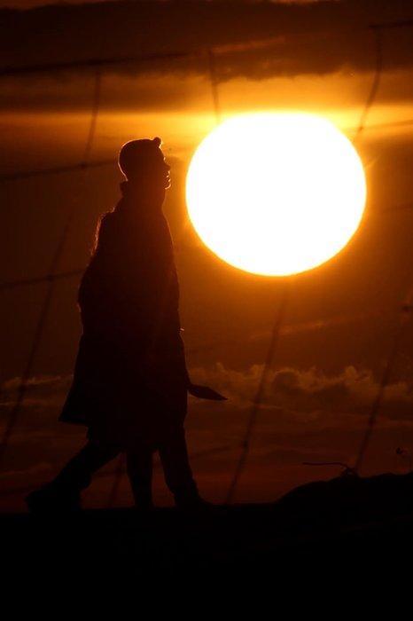 Güneşin kenti Van'da gün batımı