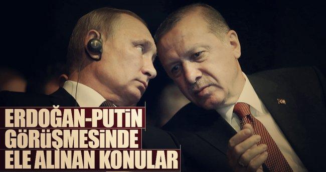 Erdoğan-Putin görüşmesinde Suriye görüşüldü