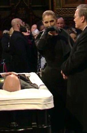 Celine Dion'dan eşe son bakış