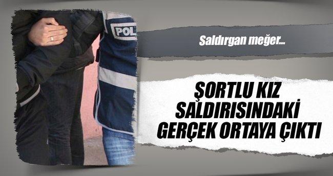 Şort giyen genç kadına tekme attığı iddia edilen 1 kişi yakalandı