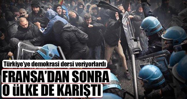 İtalya'da polis eylemcilere acımadı!