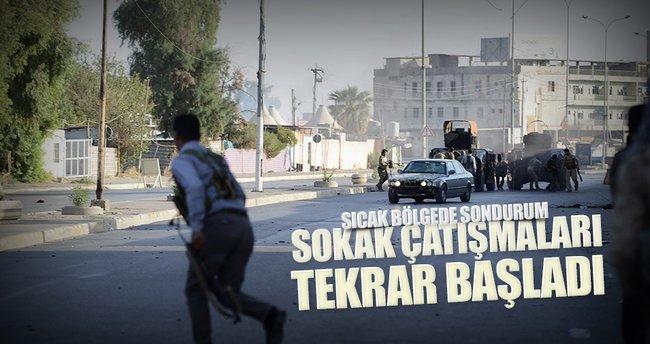 Kerkük'te sokak çatışmaları tekrar başladı