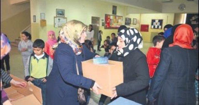 Pursaklar Belediyesi'nden Suriyelilere yardım eli