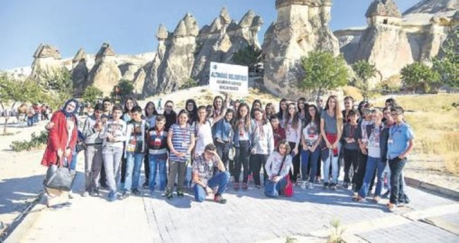 Altındağlı çocuklar Nevşehir'de