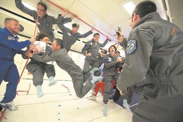 Ahu Aysal yerçekimsiz alanda uçuş eğitimi aldı