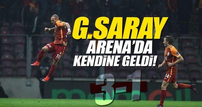 Galatasaray Arena'da kendine geldi