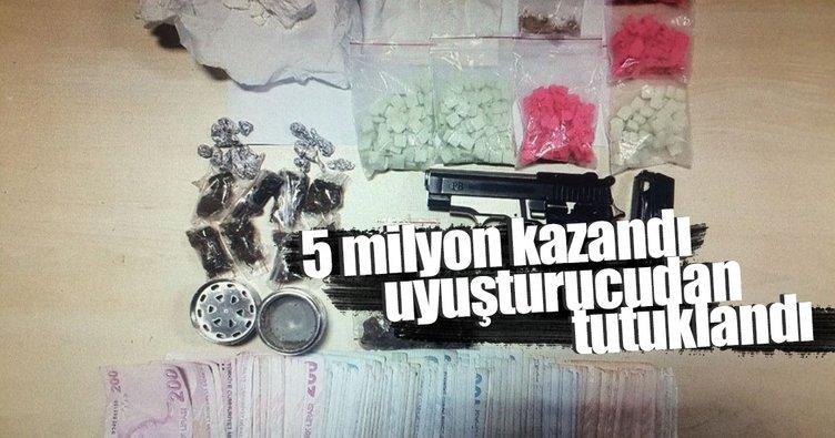 5 milyon lira kazanan talihli uyuşturucudan tutuklandı!