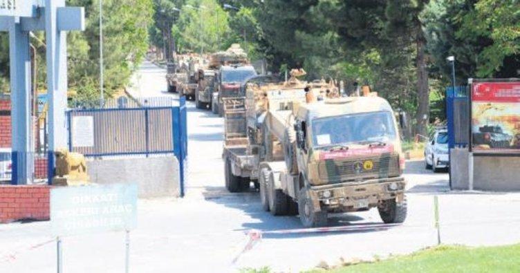 Kilis sınır bölgesine askeri sevkıyat