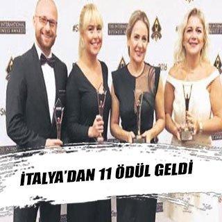İtalya'dan 11 ödül geldi