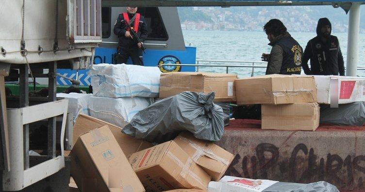 İstanbul'da 2 milyon TL'lik kaçak sigara ele geçirildi