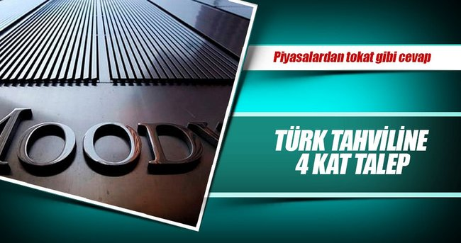 Moody's'e inat Türk tahviline 4 kat talep