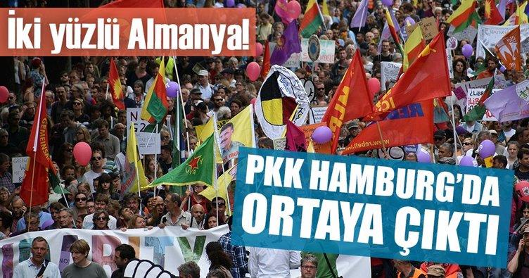 Son dakika... PKK paçavralarıyla Hamburg'da sokağa çıktılar!