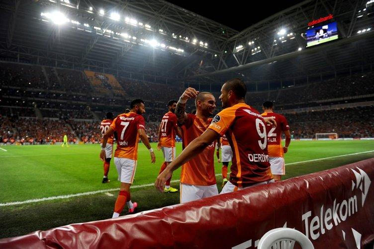 Galatasaray-Çaykur Rizespor maçından kareler