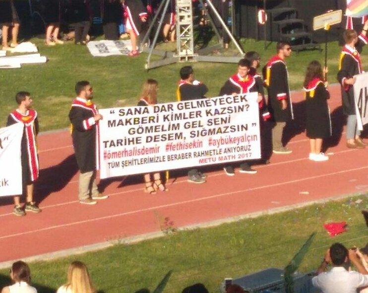 ODTÜ'DE 15 TEMMUZ ŞEHİTLERİ UNUTULMADI!