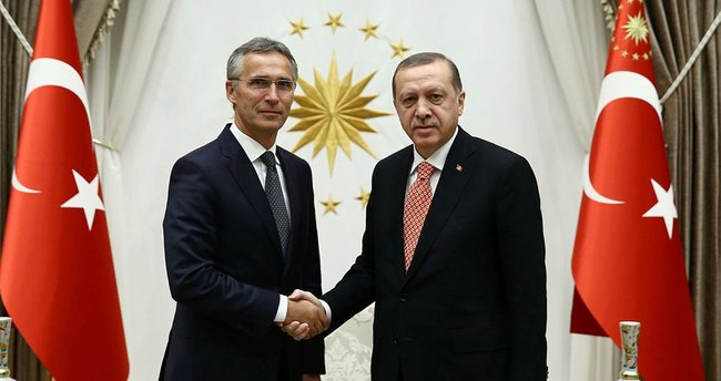 Erdoğan NATO Genel Sekreteri Stoltenberg'i kabul etti.