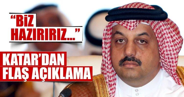 Katar'dan flaş açıklama... 'Savaşa hazırız'