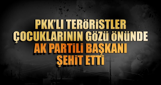 PKK'lı teröristler AK Partili Başkanı şehit etti!