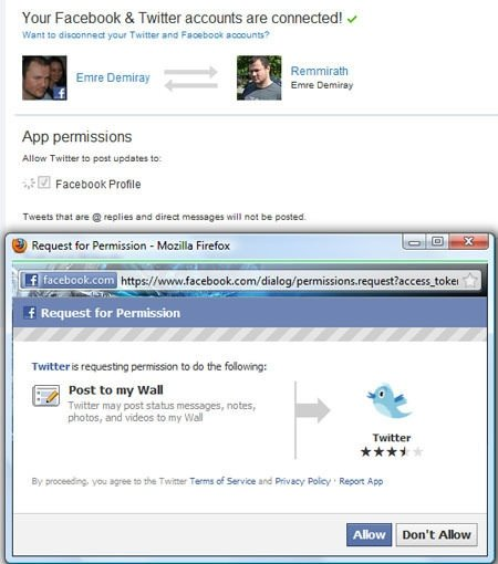 Facebook ile Twitter Hesapları Nasıl Bağlanır?