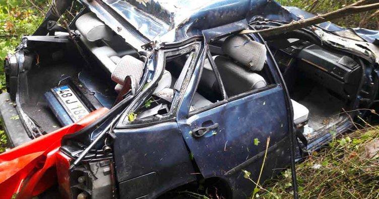 Kontrolden çıkan otomobil şarampole yuvarlandı: 4 yaralı