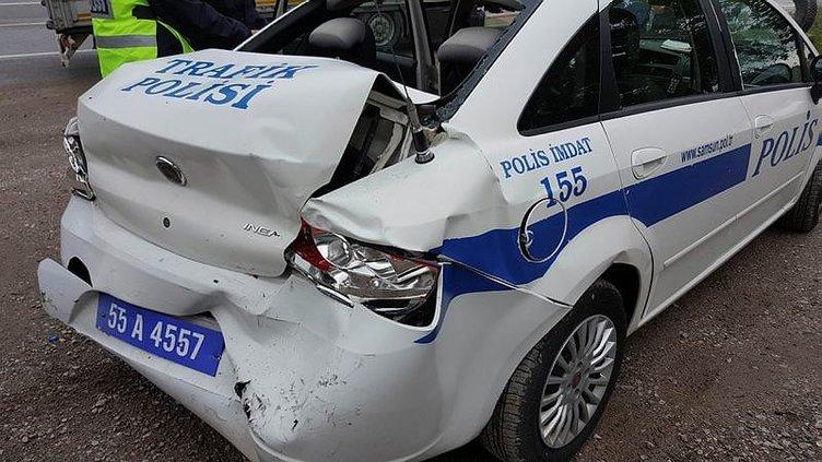 Yolu trafiğe kapatıp polise saldırdılar