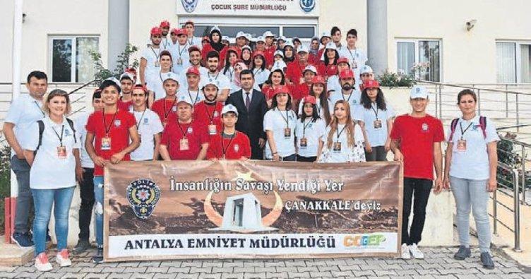 Genç yürekler Çanakkale'de