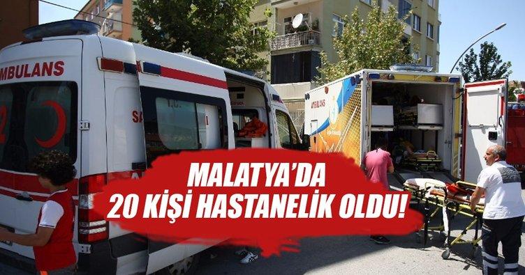 Malatya'da yangın: 20 kişi hastanelik oldu