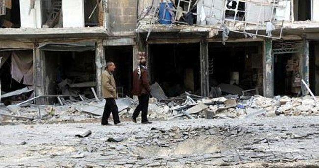 Halep'te yerleşim yerlerine saldırı
