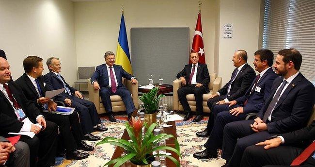 Erdoğan Ukrayna Cumhurbaşkanı Poroşenko ile görüştü!