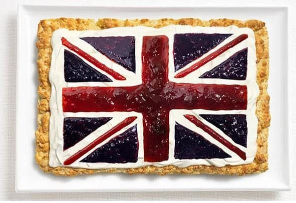 Geleneksel yemekleriyle ülke bayrakları