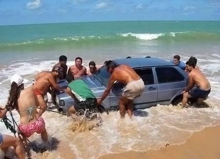 Plajlardan akıl almaz kareler