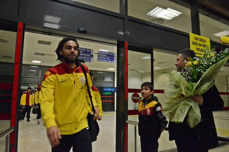 Galatasaray'a Gazinatep'te muhteşem karşılama