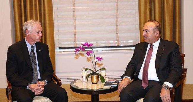 Dışişleri Bakanı Çavuşoğlu, Senatör Johnson'ı kabul etti