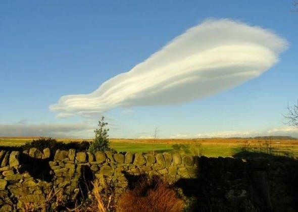 Bulutların şekli çok şaşırttı!