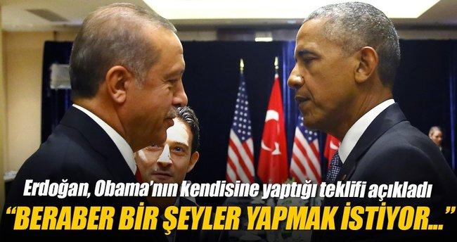 Erdoğan, Obama'nın kendisine yaptığı teklifi açıkladı