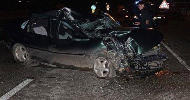 Bartın'da kaza: 1 yaralı